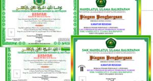 Contoh Desain Piagam Khatam Al Qur Pondok Pesantren Modern Penghargaan